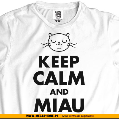 Keep calm and miau shirt