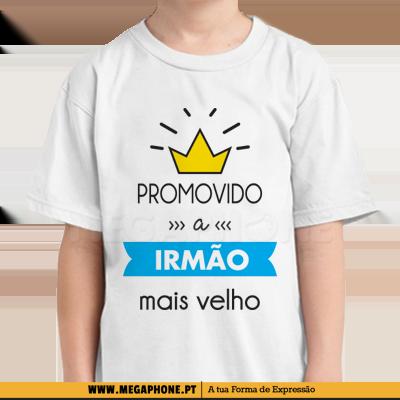 3bdaf5afedcc Promovido a irmão mais velho shirt Megaphone Loja Vestuário T-Shirts  Personalizadas VSKI Promoções Descontos