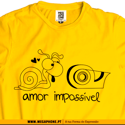 amor impossivel caracol t-shirt