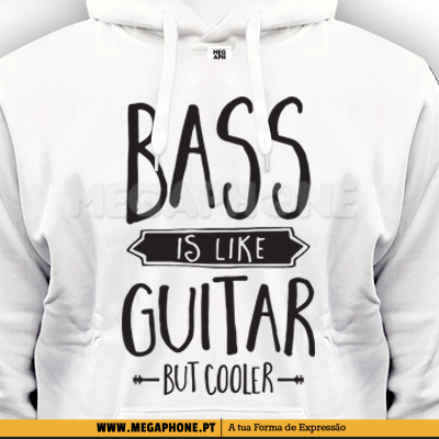 Bass is like guitar shirt