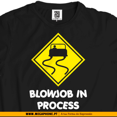 Blowjob process t-shirt