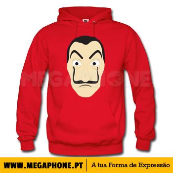 21dd3146da7f7 Mascara La casa de Papel Megaphone Loja Vestuário T-Shirts Personalizadas  VSKI Promoções Descontos Namorados
