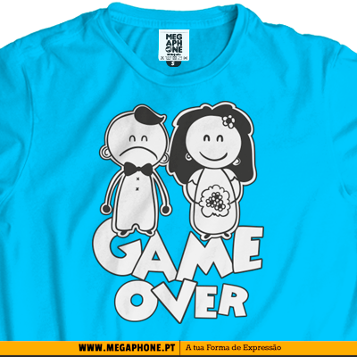 Game Over Casamento tshirt
