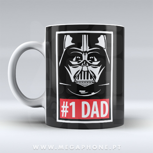 #1 Dad Star Wars Caneca