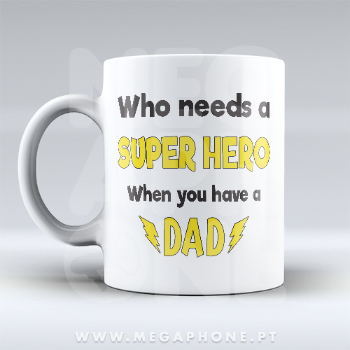 Super Hero? Dad! Caneca