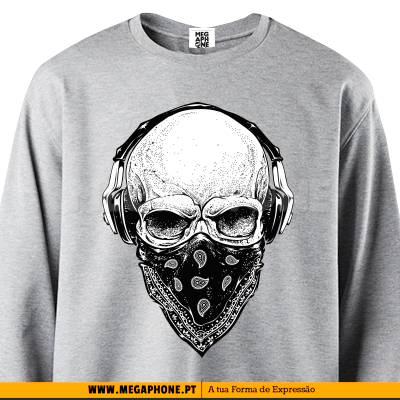 Caveira Headphones shirt