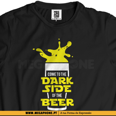 Dark side beer shirt star wars
