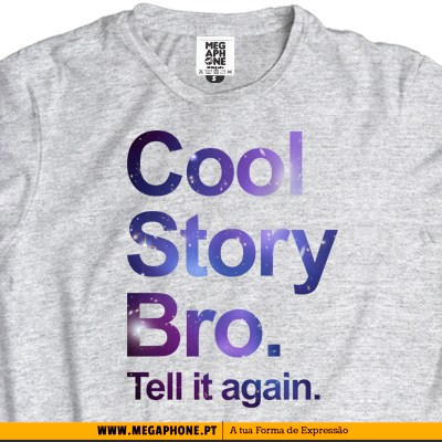 Cool story bro space swag tshirt