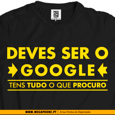 Deves ser o Google shirt