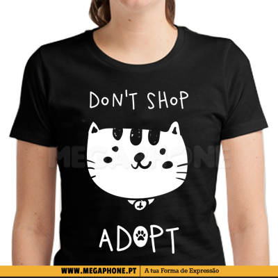 Dont shop adopt Cat shirt