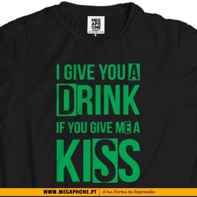 Drink kiss T-shirt