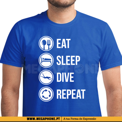 Eat sleep dive shirt