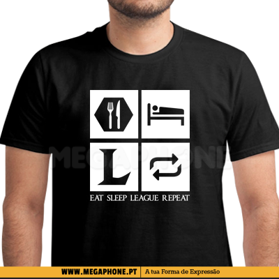 Eat Sleep League Repeat shirt