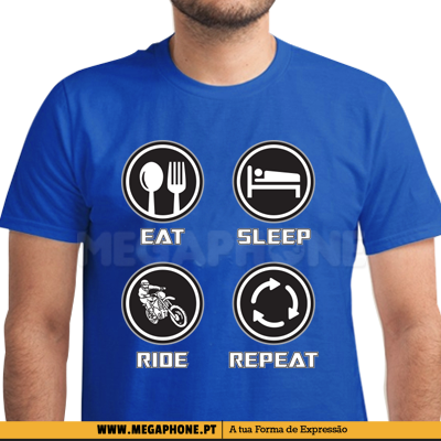 Eat Sleep Ride Repeat shirt