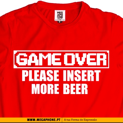 Game over beer T-shirt