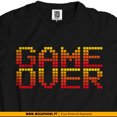Pixel Game over shirt
