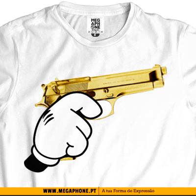 Gold gun mickey swag tshirt