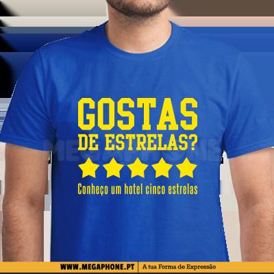frases de engate Gostas de estrelas shirt   Megaphone   Loja Online de T Shirts frases de engate