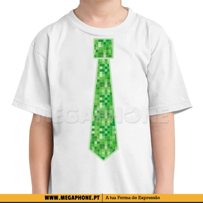 Gravata Minecraft Creeper shirt
