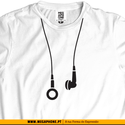 earphones t-shirt