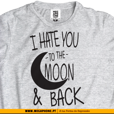 Hate moon tshirt