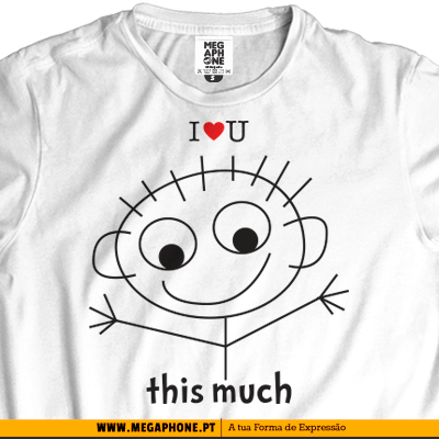 I love you this much tshirt