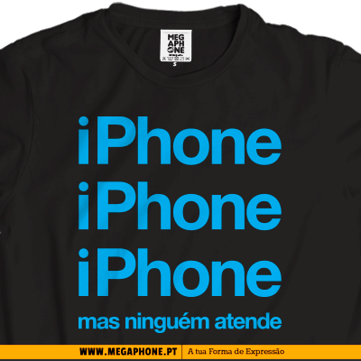iphone atende t-shirt