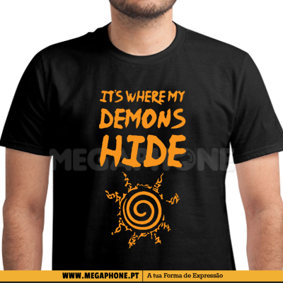 Its Where My Demons Hide Naruto shirt