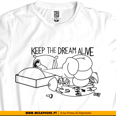 keep dream t-shirts megaphone