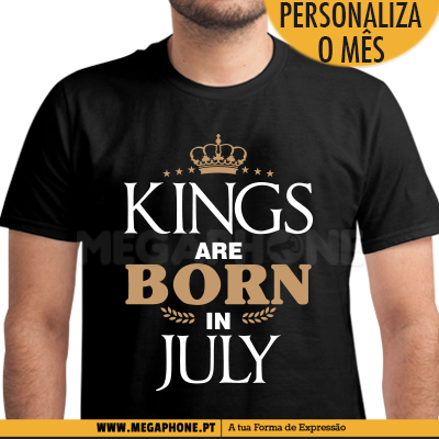 Kings are born mes personalizado shirt
