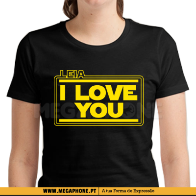 Leia I love you shirt