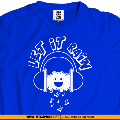 Let it Rain T-shirts Megaphone