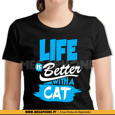 Life is better cat shirt