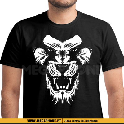 Lion face shirt