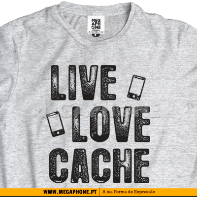 Live love cache shirt geocaching