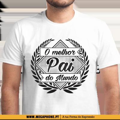 cec631f9a4e O melhor pai do mundo shirt Megaphone Loja Vestuário T-Shirts  Personalizadas VSKI Promoções Descontos