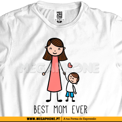 Best mom ever menino shirt