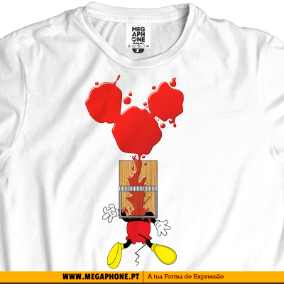 Mickey sangue t-shirt