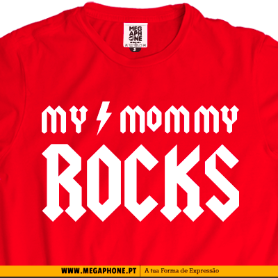 Mommy rocks t-shirt personalizada