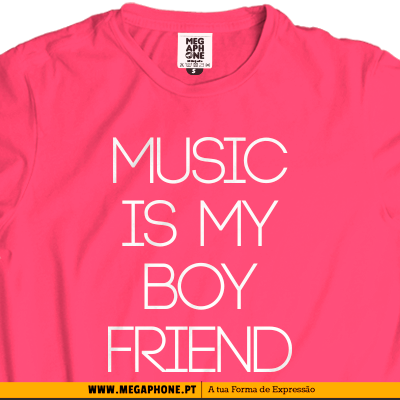 Music boyfriend t-shirt