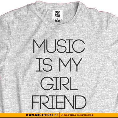 Music girlfriend t-shirt
