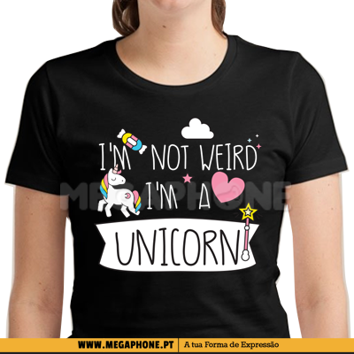 Not weird unicorn shirt