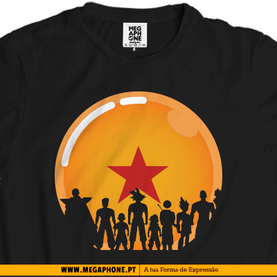 Personagens Dragon Ball z shirt