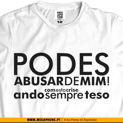 Abusar crise teso t-shirt