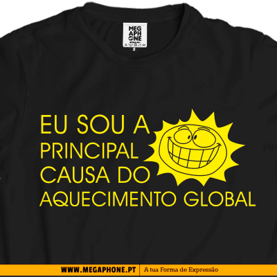 Causa aquecimento global tshirt