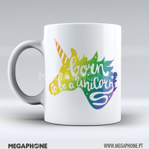 Caneca born to be a Unicorn