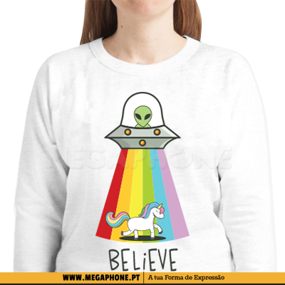 Alien Believe Unicorn Shirt