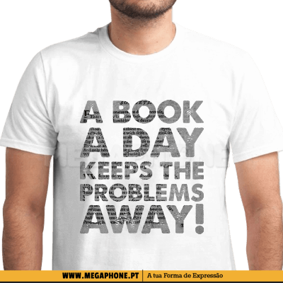 Book a day problems away shirt