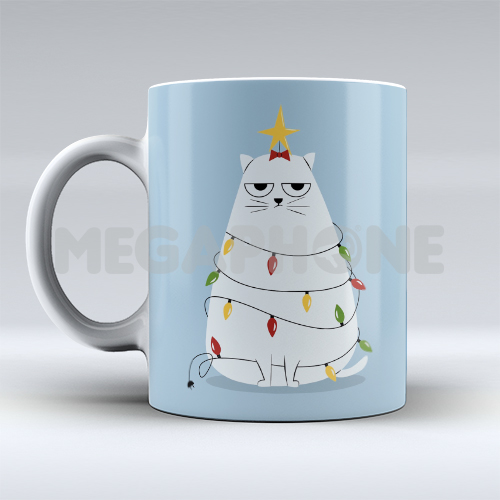 Christmas Cat Tree Mug