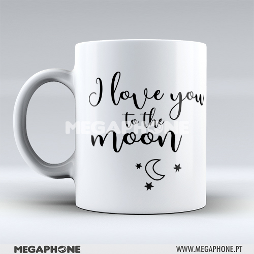 Caneca love you moon back
